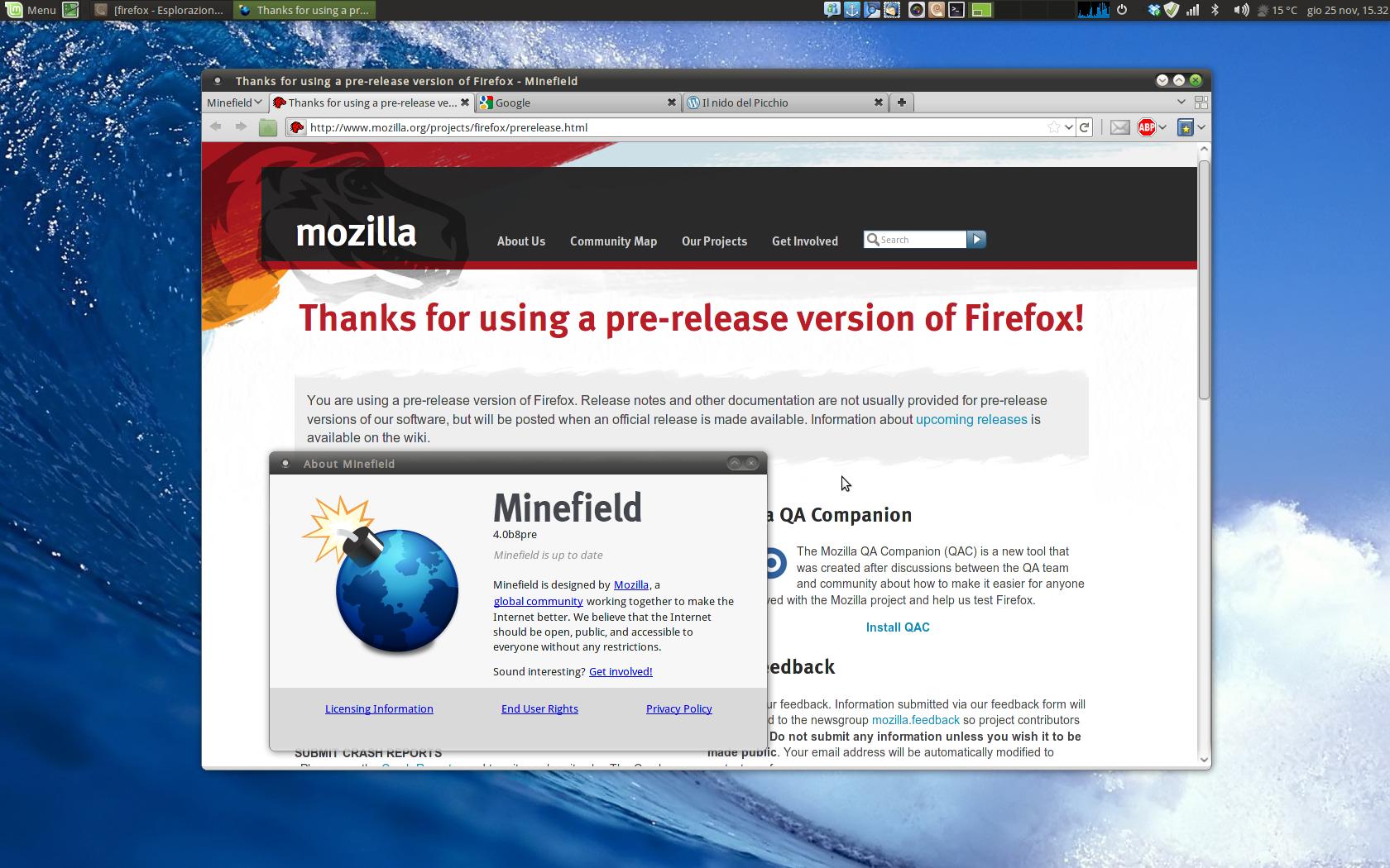 Firefox 4 beta8 bingo il nido del picchio for Il nido del picchio